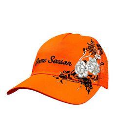Another great find on #zulily! Orange 'Deere Season' Rhinestone Baseball Cap by John Deere #zulilyfinds