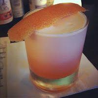 Pantera Rosa with Aperol, Beefeater 24 Gin, homemade vanilla syrup, lemon juice and egg whites - Sadie Restaurant (Hollywood)