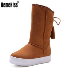 09f1e692434 Winter Real Leather Boots Thickened Fur Women Boots Short Ankle Snow Boots  Lace Up Platform Footwear
