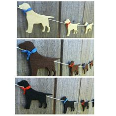 I made the Labrador garland in black, gold and chocolate