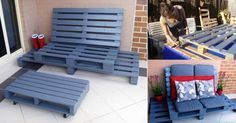 DIY Patio Pallet Lounger