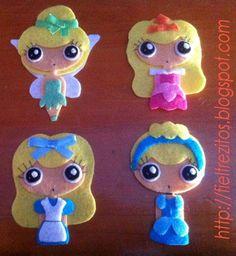 Varias princesas en fieltro