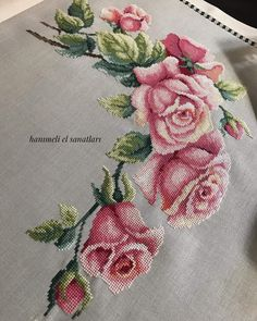 1 million Stunning Free Images to Use Anywhere Cross Stitch Rose, Cross Stitch Borders, Modern Cross Stitch Patterns, Cross Stitch Flowers, Cross Stitch Charts, Cross Stitch Designs, Cross Stitching, Hand Embroidery Flowers, Folk Embroidery
