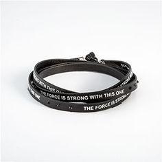 Star Wars Darth Vader Faux Leather Wrap Bracelet | ThinkGeek
