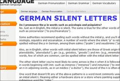 Great site- German for English speakers. Explains all the grammar basics very clearly