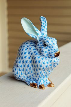 Blue Herend Bunny