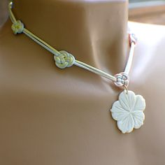 Variegated pastel satin Chinese knot necklace by SueRunyonDesigns, $34.00