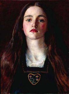 Portrait d une jeune fille (Sophie Gris), huile de John Everett Millais (1829-1896, United Kingdom)