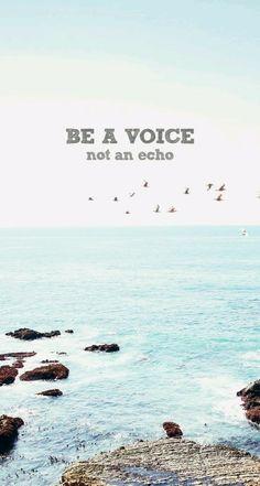 Voice wallpaper