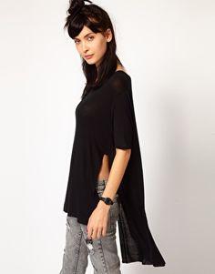 Cheap Monday T-Shirt With Drop Hem $41
