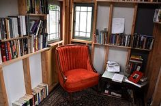 """Indianapolis's first free micro-library """"The Cottage"""" created by Amalia Wiatr-Lewis, Bennington College class of 2016"""