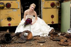 How to totally demolish you wedding dress