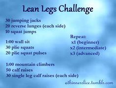 Lean Leg Challenge