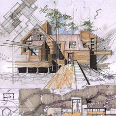 Interesting Find A Career In Architecture Ideas. Admirable Find A Career In Architecture Ideas. Architecture Concept Drawings, Architecture Sketchbook, Architecture Life, Security Architecture, Landscape Architecture, Architect Drawing, Layout, Architectural Sketches, House Sketch Design