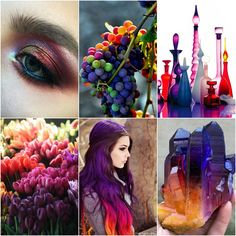 A post from Mood Board Monday - Hot Purple! I'm getting excited to start focussing on one of a kind colourways f. Tanis Fiber Arts, Sunset Hair, Bright Purple, Pink, Colour Pallete, Color Shapes, Shades Of Yellow, Blog Design, Color Of Life