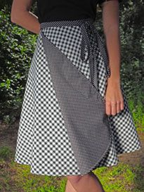 Reversible Wrap Skirt. I made pretty much this exact pattern  for the first time back in 1976! Loved it.