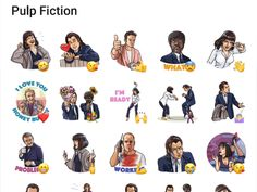 Quesntin Tarantino is famous for a lot of awesome movies. One of the best movies is Pulp fiction. This telegram Sticker pack contains a lot of Pulp Fiction Stickers. Telegram Stickers, Pulp Fiction, Good Movies, Packing, Movie Posters, Bag Packaging, Film Poster, Billboard, Film Posters