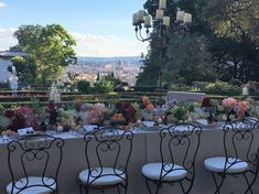 Look over Florence DUOMO from Villa il Garofalo for the Wedding Dinner