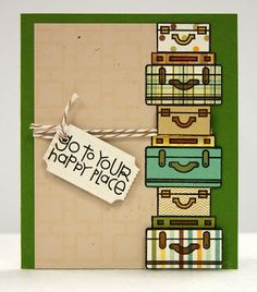 Love Kimberly Lane's paper piecing idea for the Get Outta Town stamp set #cards #stamping #paper_smooches