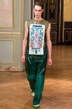 Walter Van Beirendonck Collection - The Walter Van Beirendonck collection for Fall/Winter 2015 graced the stage at Paris Fashion Week and made a powerful social statement. The collect...