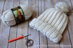 Free Crochet Pattern - Knit-Look Super Bulky Slouch