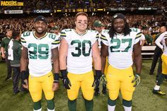 Captains on Oct. 26, 2014 - Packers at Saints (Hayward / Kuhn / Lacy)