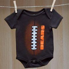 Bears Baby SS Mini Football Creeper