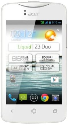 "Tecnología - Acer Liquid Z3 Duo – Smartphone (3,5""/8,9 cm, USB, Android 4.2 Jelly Bean, 4 GB), color negro -  http://tienda.casuarios.com/acer-liquid-z3-duo-smartphone-3589-cm-usb-android-4-2-jelly-bean-4-gb-color-negro/"