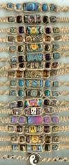 JewelryVilla hemp chokers with fimo beads, teen jewelry, hemp jewelry