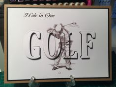 Abc Cards, Alphabet Cards, Greeting Cards, Men's Cards, Masculine Birthday Cards, Masculine Cards, Golf Birthday Cards, Golf Cards, Hand Stamped Cards