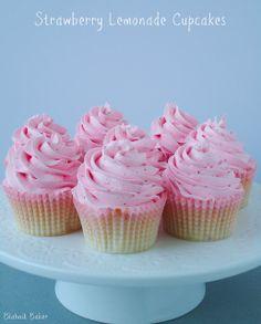 Strawberry Lemonade Cupcakes - Blahnik Baker