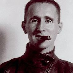 The young Bertolt Brecht, preparing a revolution in German stage theaters. And he's pointing at us with the cigar like a lance: He's ready to attack!