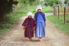 "photography by Bill Coleman - #996 ""Li'l Sisters"" - Amish"