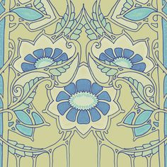 Minuet in Blue fabric by edsel2084 on Spoonflower - custom fabric