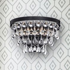Shop for Natalia 2-light Antique Black Crystal Wall Sconce. Get free delivery at Overstock.com - Your Online Home Decor Destination! Get 5% in rewards with Club O!