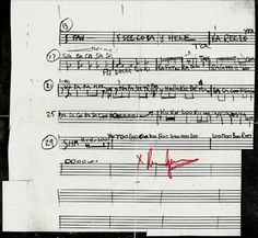 "annie-lane:  "" Roger Waters' handwritten sheet music for Atom Heart Mother.  """