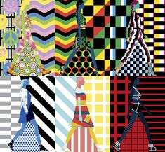 Craig & Karl's dazzling series of illustrations for Milk Studios, depicting designs seen on the catwalk at New York Fashion Week