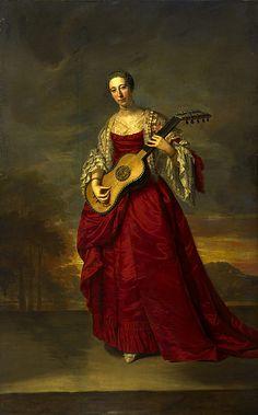 """Caroline D'Arcy, 4th Marchioness of Lothian"", Joseph Anton Adolf, ca. 1750; National Gallery of Scotland"