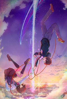 Kimi no na wa (Your Name) Fan Art Commission for Gomengang Your Name Wallpaper, Cute Anime Wallpaper, Animes Wallpapers, Cute Wallpapers, Otaku Anime, Anime Art, Personajes Studio Ghibli, Vaporwave Anime, Kimi No Na Wa Wallpaper