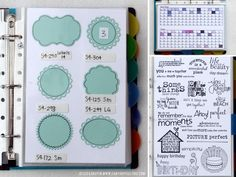 Amazing way to #organize your #spellbinders die templates!
