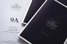 Identity and marketing materials for 150 Charles Street, a luxury residential development in New York's West Village.