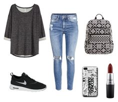 """Untitled #4"" by monika-machalova on Polyvore featuring H&M, NIKE, Vera Bradley and MAC Cosmetics"