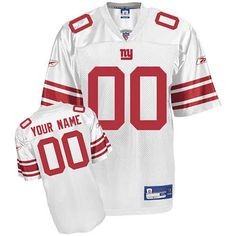 Giants Personalized Authentic White NFL Jersey (S-3XL) White Jersey 6feb5ac5e