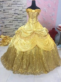 Sparkly Belle Costume - Beauty and the Beast - Disney Princess costume - Kostüme - Best Models Adult Princess Costume, Disney Princess Costumes, Disney Princess Dresses, Princess Ball Gowns, Disney Dresses, Princess Belle Dress, Disney Princesses, Beauty And The Beast Wedding Dresses, Belle Wedding Dresses
