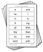 Reading Printables - Solity's 100 essential words