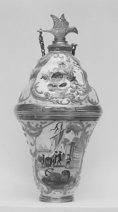 Scent Bottle  Date: ca. 1760–1800 Culture: English (Staffordshire) Medium: Enameled copper