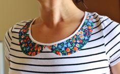DIY Peter Pan collar tee shirt, Junk in the Trunk Vintage Market