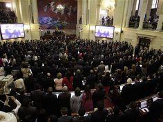 Instalación del nuevo Congreso de Colombia Por los grandes temas que deberá abordar, por los 'pesos pesados' de la política nacional que reunirá y por las fuertes diferencias ideológicas en los tres bloques principales que lo integraran, el Congreso que hoy asume será uno de los más interesantes de los últimos tiempos. Forts