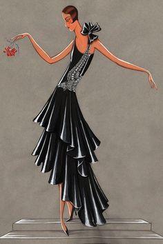 1928 Lanvin Fashion Sketch