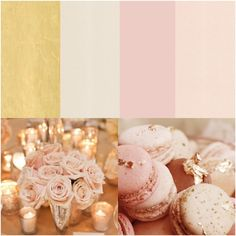 This is a perfect color palate for the dresses!!